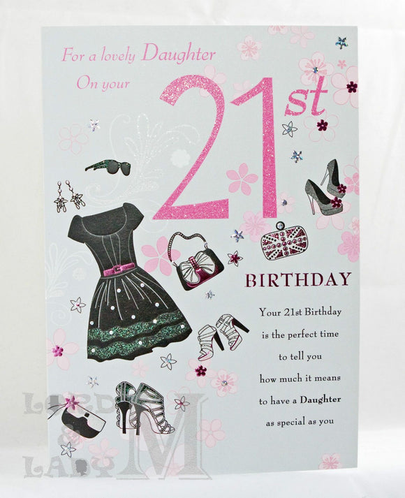 25cm - For A Lovely Daughter On Your 21st - Lge -H