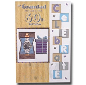 23cm - To Grandad With Love On Your 60th ... - GH