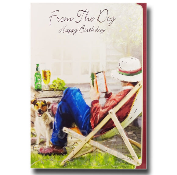 19cm - Man Dog Beer Deckchair - DGC