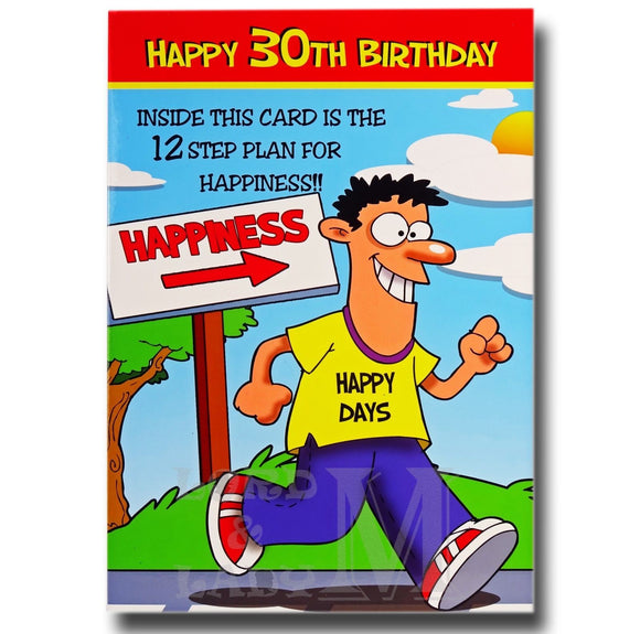 23cm - Happy 30th Birthday Inside This Card - CWH