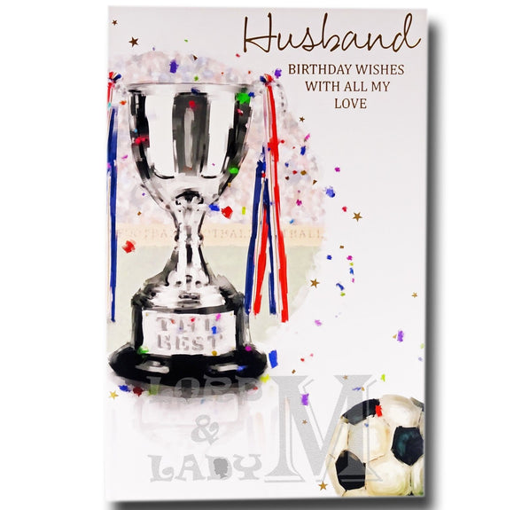 27cm - Husband - Football Cup - Lge Let - E