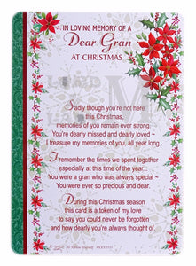 15cm - In Loving Memory Of A Dear Gran ... - DGC
