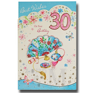 23cm - Best Wishes On Your Birthday 30 - CWH