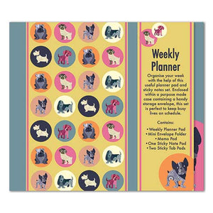 Dot The Dog Weekly Planner Organiser - Sticky Notes Memo Pad Weekly Notepad