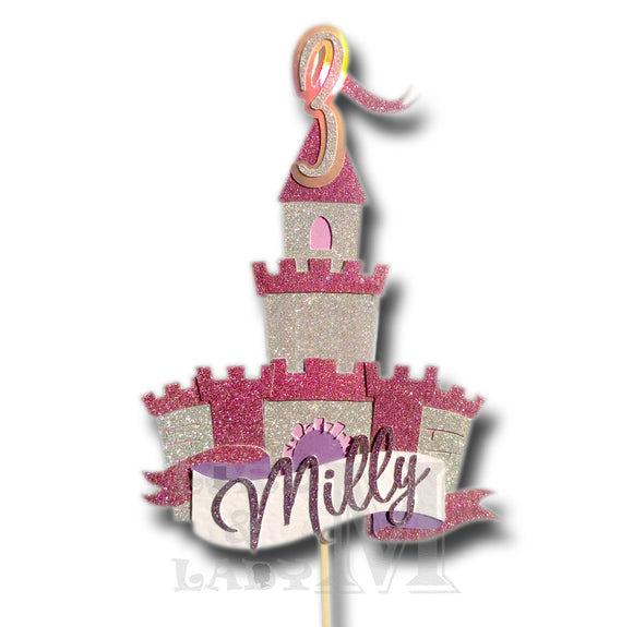 Castle - Themed Personalised Cake Topper