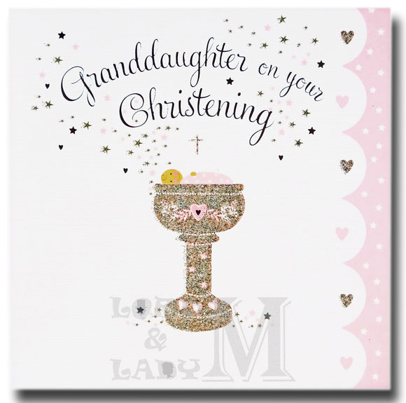 16cm - Granddaughter On Your Christening - E