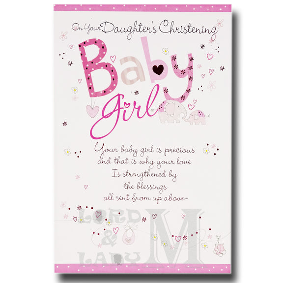 23cm - On Your Daughter's Christening ... - E