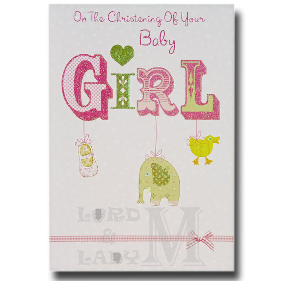 19cm - On The Christening Of Your Baby Girl - E