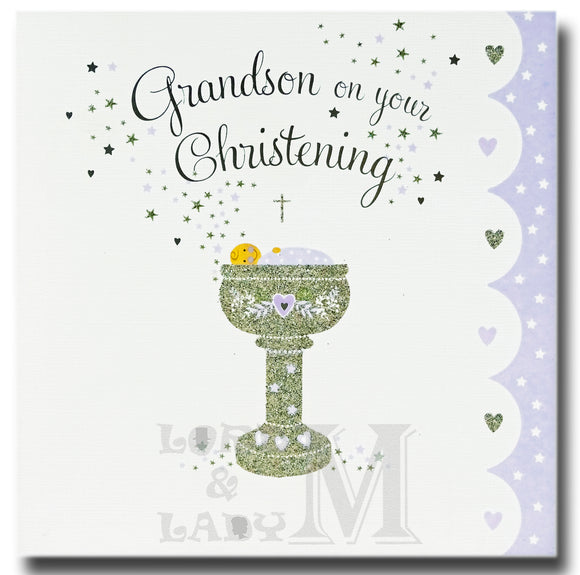 16cm - Grandson On Your Christening - E
