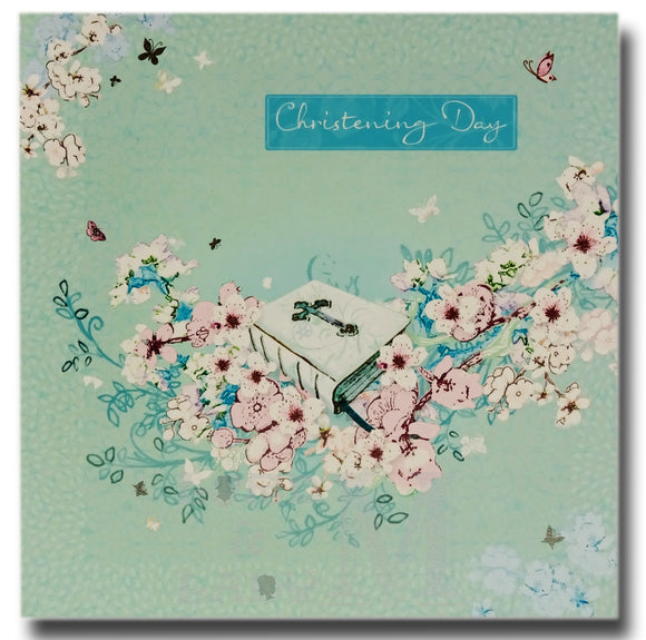 16cm - Christening Day - Blue Green - E