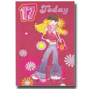 19cm - 17 Today - Blonde Girl Flowers - E