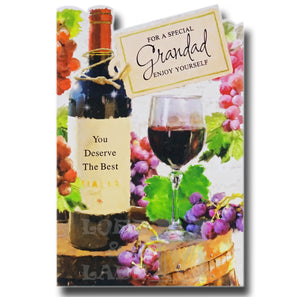 20cm - For A Special Grandad Enjoy ... - Wine - E