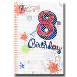 19cm - Happy 8th Birthday Wow - Notebook