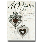 24cm - 40 Years On Your Anniversary - Lge Let - E