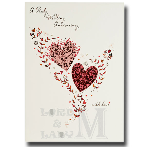 20cm - A Ruby Wedding Anniversary With Love - E