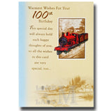 19cm  Red Train - Warmest Wishes For Your 100th