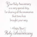 19cm - Ruby Wedding Anniversary - P