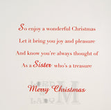 23cm - Christmas Wishes For A Wonderful Sister - E