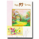 19cm - Happy 95th Birthday - Watering Can - DGC