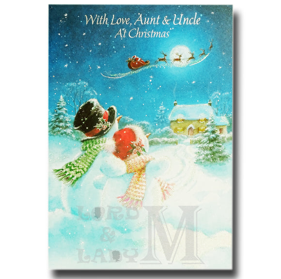 19cm - With Love, Aunt & Uncle At Christmas - KH