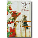 19cm - To Our Cat At Christmas - Stocking Gift - E