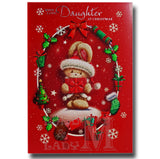 25cm - With Love, Daughter At Christmas - LgeLet E