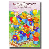19cm - For You Godson Happy Birthday - Train - DGC