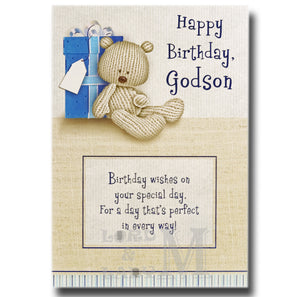 19cm - Happy Birthday, Godson - DGC