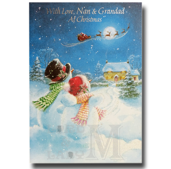 19cm - With Love, Nan & Grandad At Christmas - KH