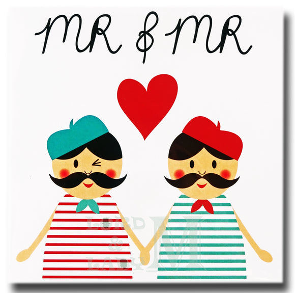 13cm Square - Mr & Mr - Tres Chic - MML