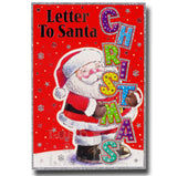 19cm - A Letter To Santa Christmas - Red - BGC