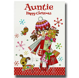 19cm - Auntie Happy Christmas - Brunette Gifts -BG