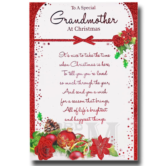 19cm - To A Special Grandmother At Christmas - BGC