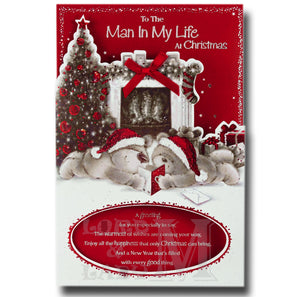23cm - To The Man In My Life At Christmas - BGC