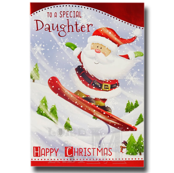 19cm - To A Special Daughter Happy Christmas - BGC