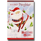 19cm - To A Lovely Daughter Christmas Wishes - BGC