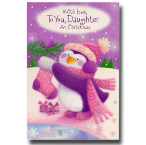 20cm - .. To You, Daughter - Stocking Penguin - BG