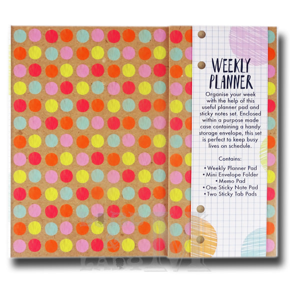 Love Life Weekly Planner Organiser - Sticky Notes Memo Pad Weekly Notepad