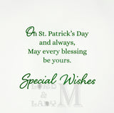 19cm - Special Wishes For You On St. Patrick's -BG