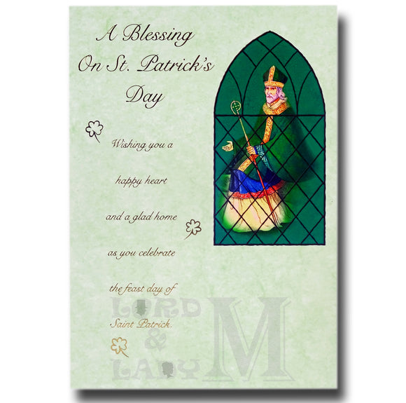 20cm - A Blessing On St. Patrick's Day Wishing -BG