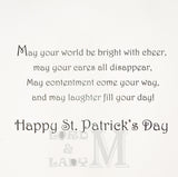 20cm - Happy St. Patricks Day - Shamrock Foil -BGC