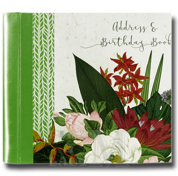 Botanicals Hardback Address And Birthday Book - Perfect Gift Idea