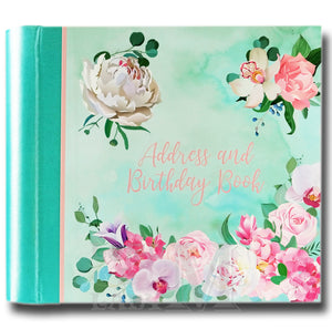 Belles Fleurs Hardback Address And Birthday Book - Flowers - Perfect Gift Idea