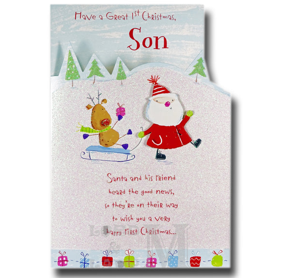 28cm - .. A Great 1st Christmas Son - Lge Let -DGC