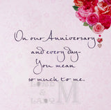 23cm - On Our Anniversary With All My Love .. - E