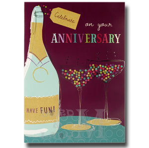 20cm - Celebrate On Your Anniversary Have Fun! -RV