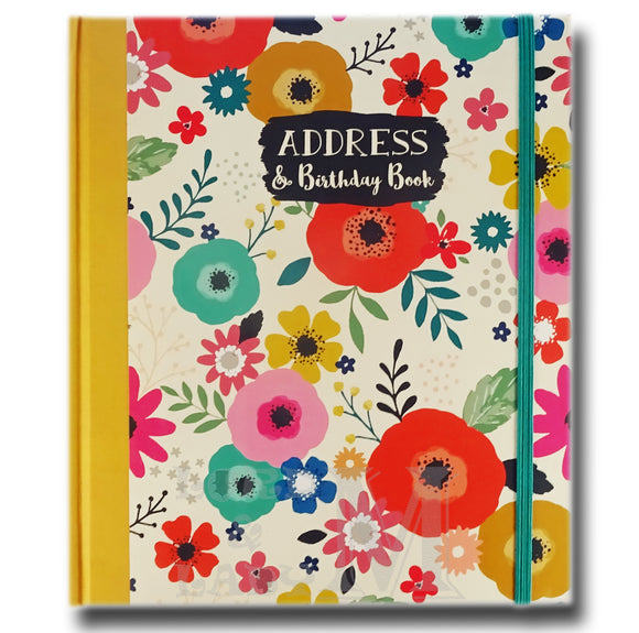 Bohemia Address And Birthday Book - Flowers Design - Perfect Gift