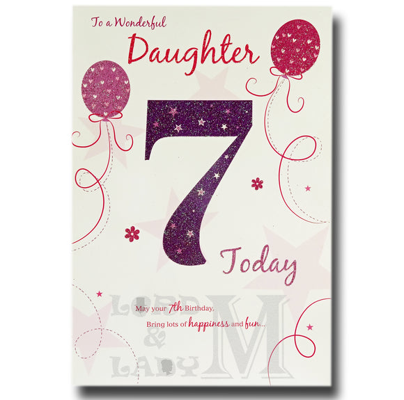 23cm - To A Wonderful Daughter 7 Today - E