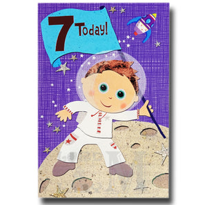 20cm - 7 Today! - Astronaut Space Rocket - E