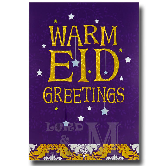 15cm - Warm Eid Greetings - JCK